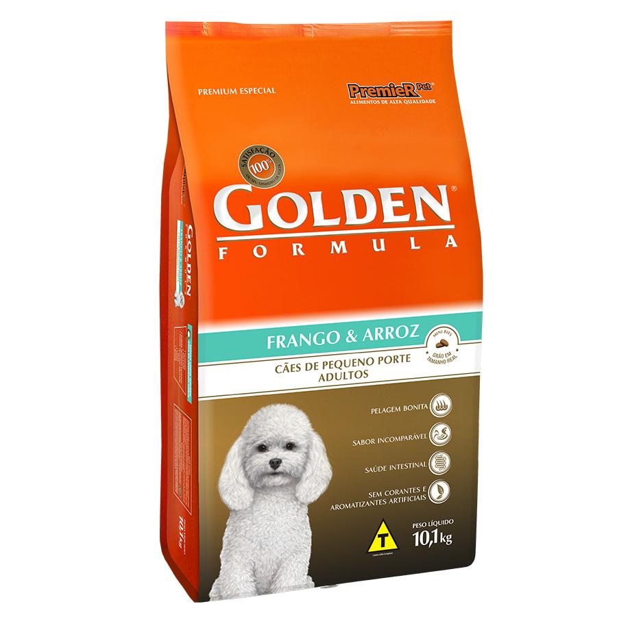 Ração Golden Fórmula Para Cães Adultos de Pequeno Porte Sabor Frango e Arroz - 10,1 Kg