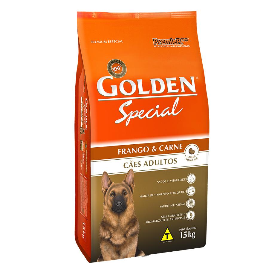 Ração Golden Special Sabor Frango e Carne para Cães Adultos - 15 Kg
