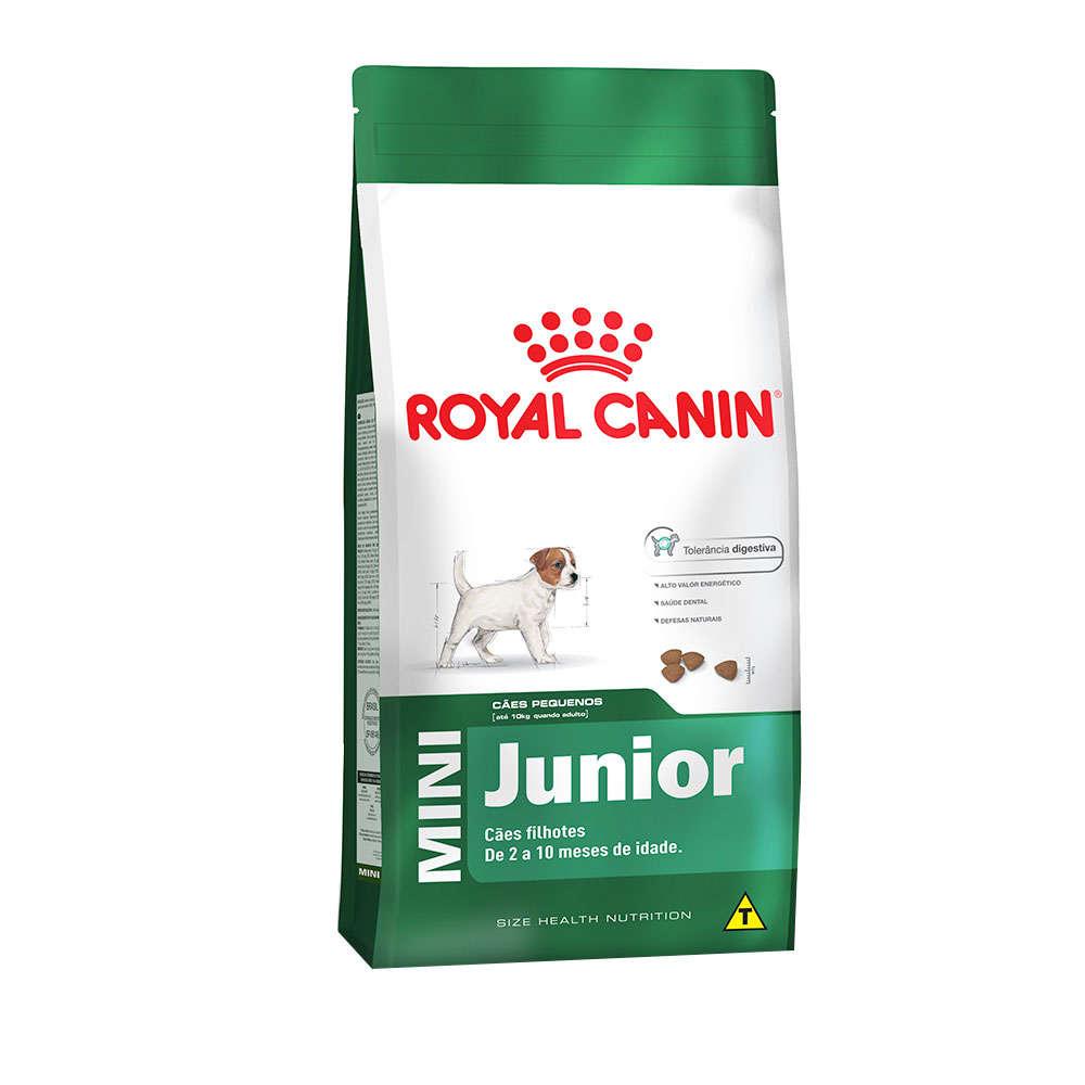 Ração Royal Canin Mini Junior para Cães Filhotes de Raças Pequenas de 2 a 10 Meses de Idade 7,5 KG