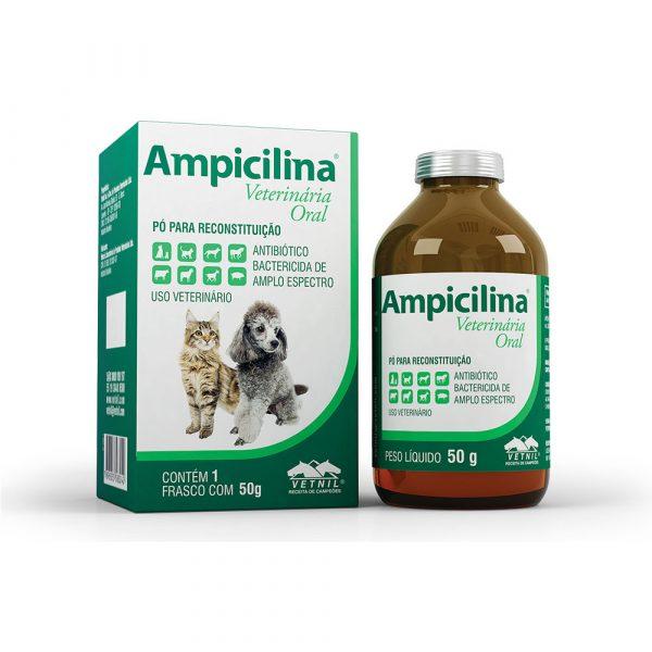 Antibiótico Ampicilina Veterinária Oral 50g Vetnil