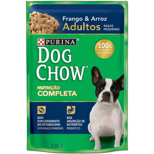 Ração Úmida Purina Dog Chow Sachê para Cães Adultos de Pequeno Porte Sabor Frango e Arroz