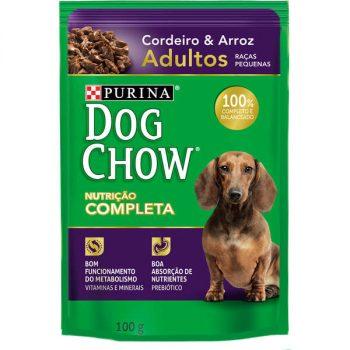 Ração Úmida Purina Dog Chow Sachê para Cães Adultos de Pequeno Porte Sabor Cordeiro e Arroz