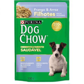 Ração Úmida Purina Dog Chow Sachê para Cães Filhotes de Pequeno Porte Sabor Frango e Arroz