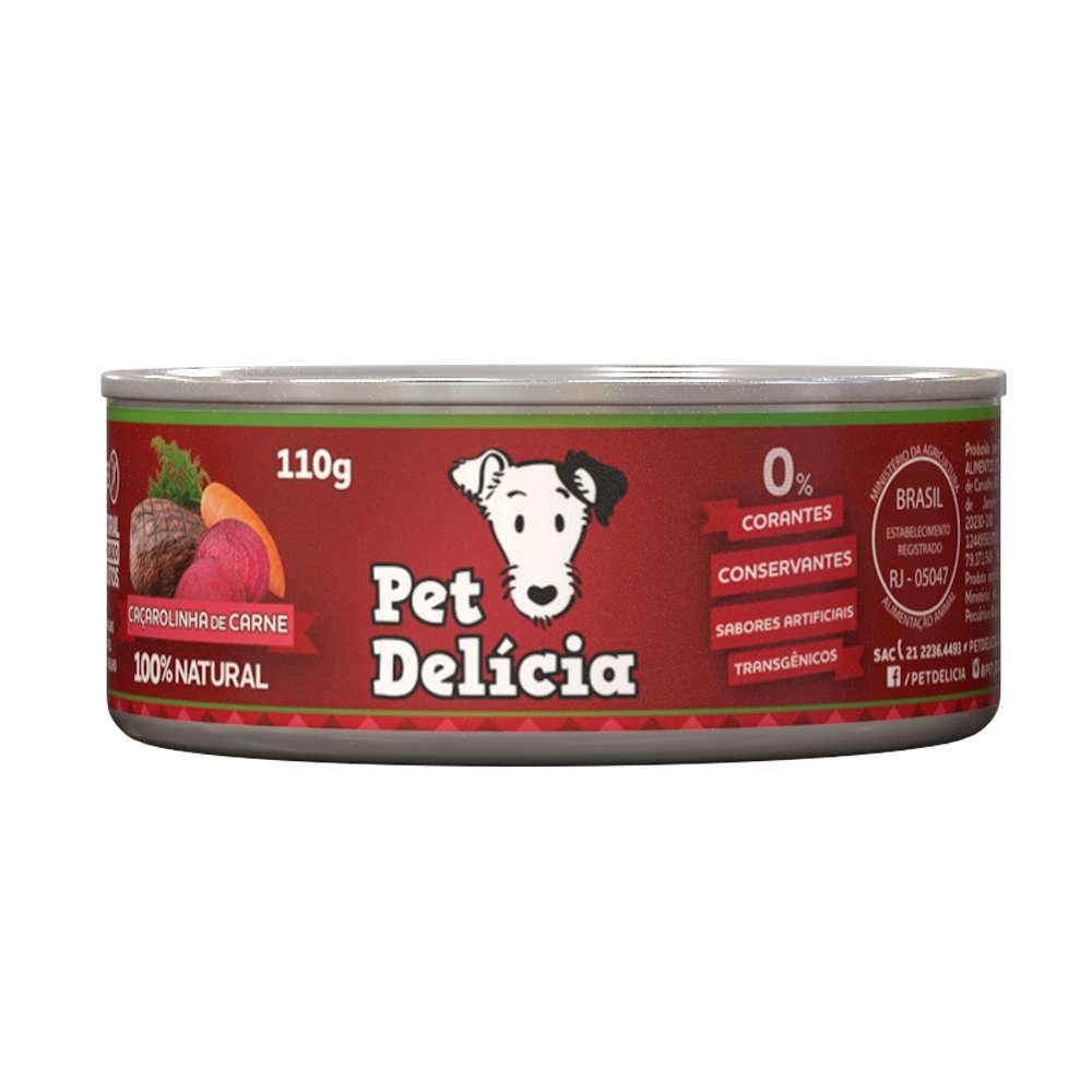 Ração Úmida Pet Delícia Lata para Cães - Sabor Caçarolinha de Carne 320g