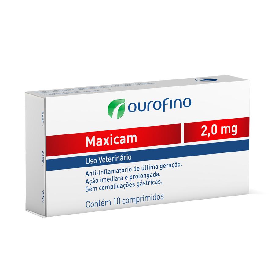Anti-inflamatório Maxicam 2,0 mg - Ourofino