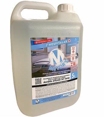 Álcool líquido 70% 5 litros