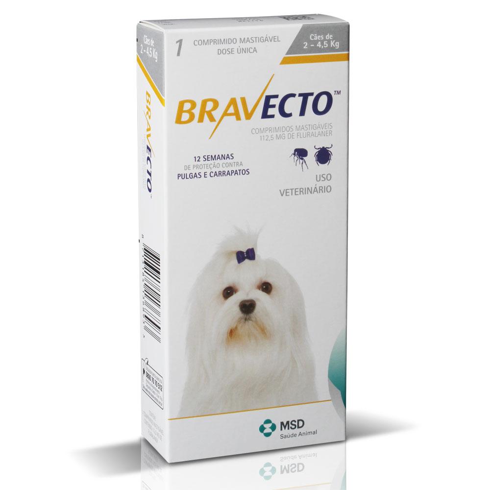 Antipulgas e Carrapatos Bravecto MSD para Cães de 2 a 4,5 Kg