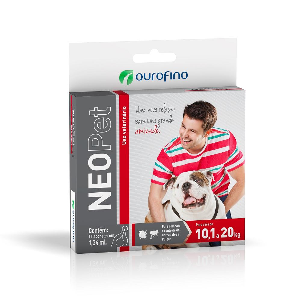 Antipulgas e Carrapatos Neopet 10,1 á 20Kg - Ourofino