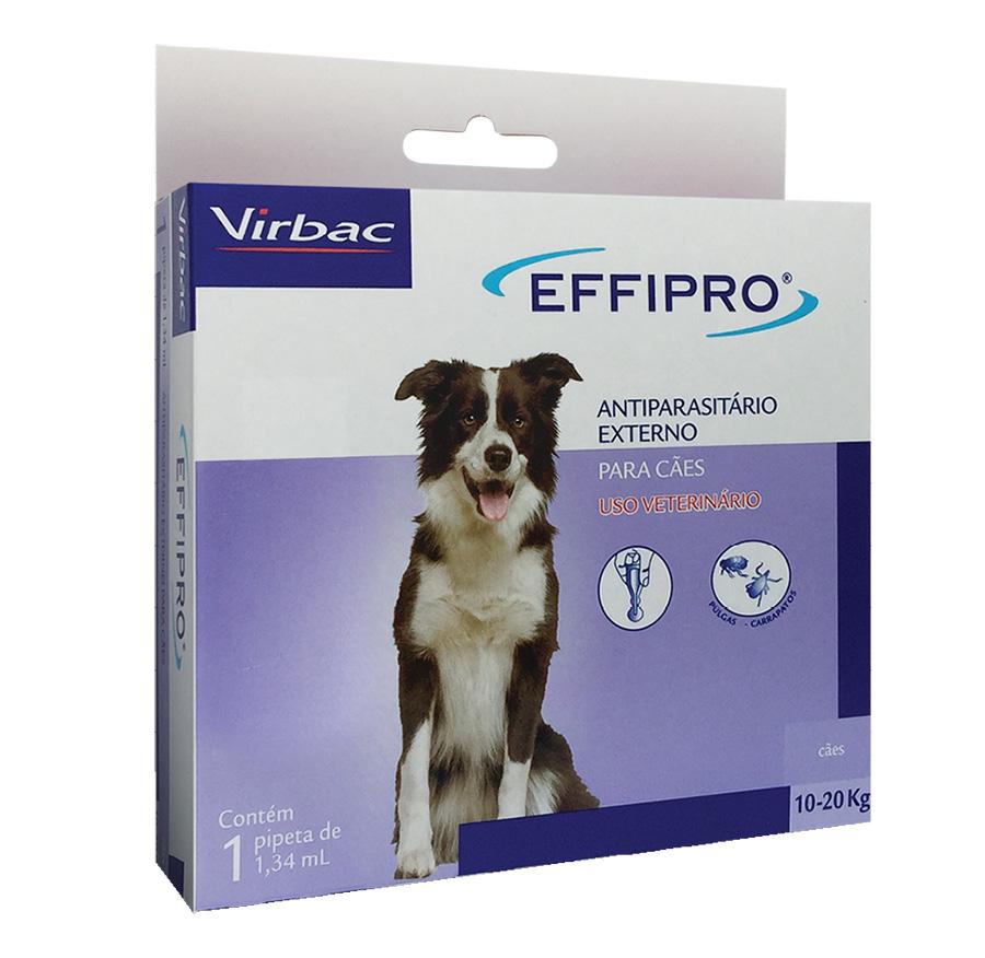 Antipulgas e Carrapatos Effipro 1,34 ml/De 10 até 20 Kg - Virbac