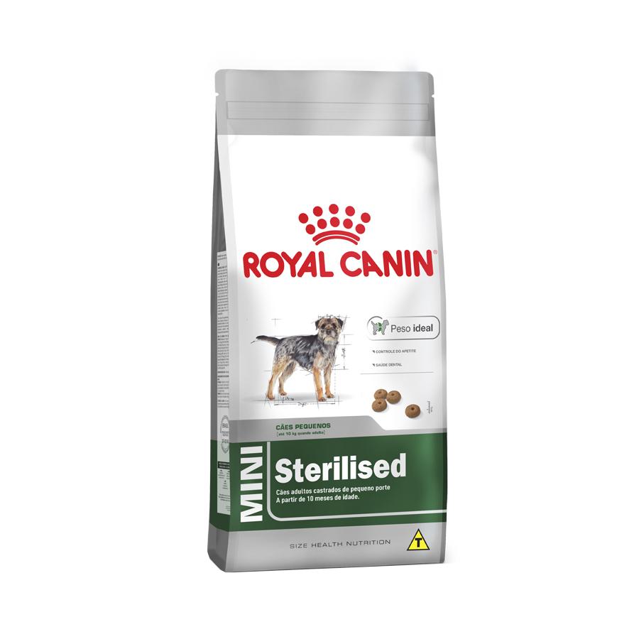 Ração Royal Canin Mini Sterilised para Cães Adultos Castrados de Raças Pequenas a partir de 10 Meses de Idade 2,5 KG