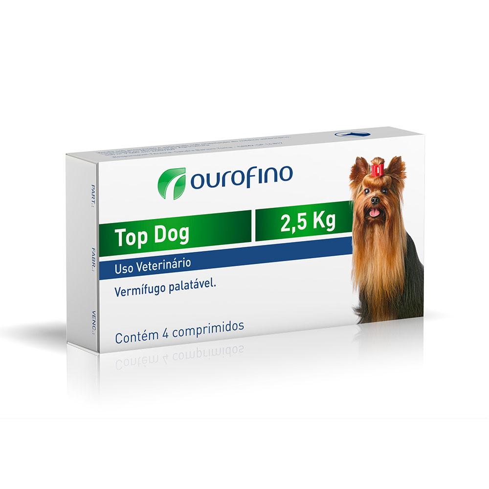 Vermífugo Top Dog 2,5Kg - Ourofino