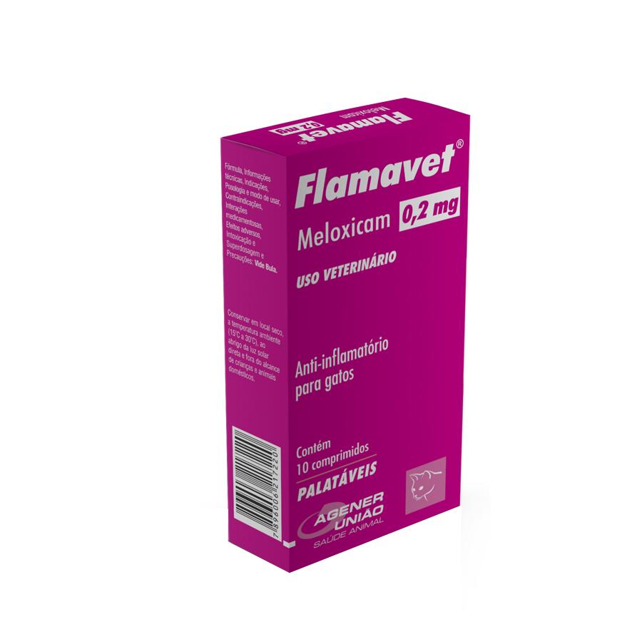 Anti-inflamatório para Gatos Flamavet 0,2mg - Agener União