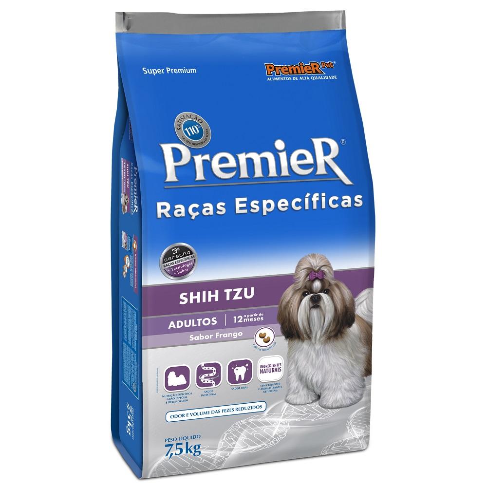 Ração Premier Raças Específicas Shih Tzu para Cães Adultos - 7,5 Kg