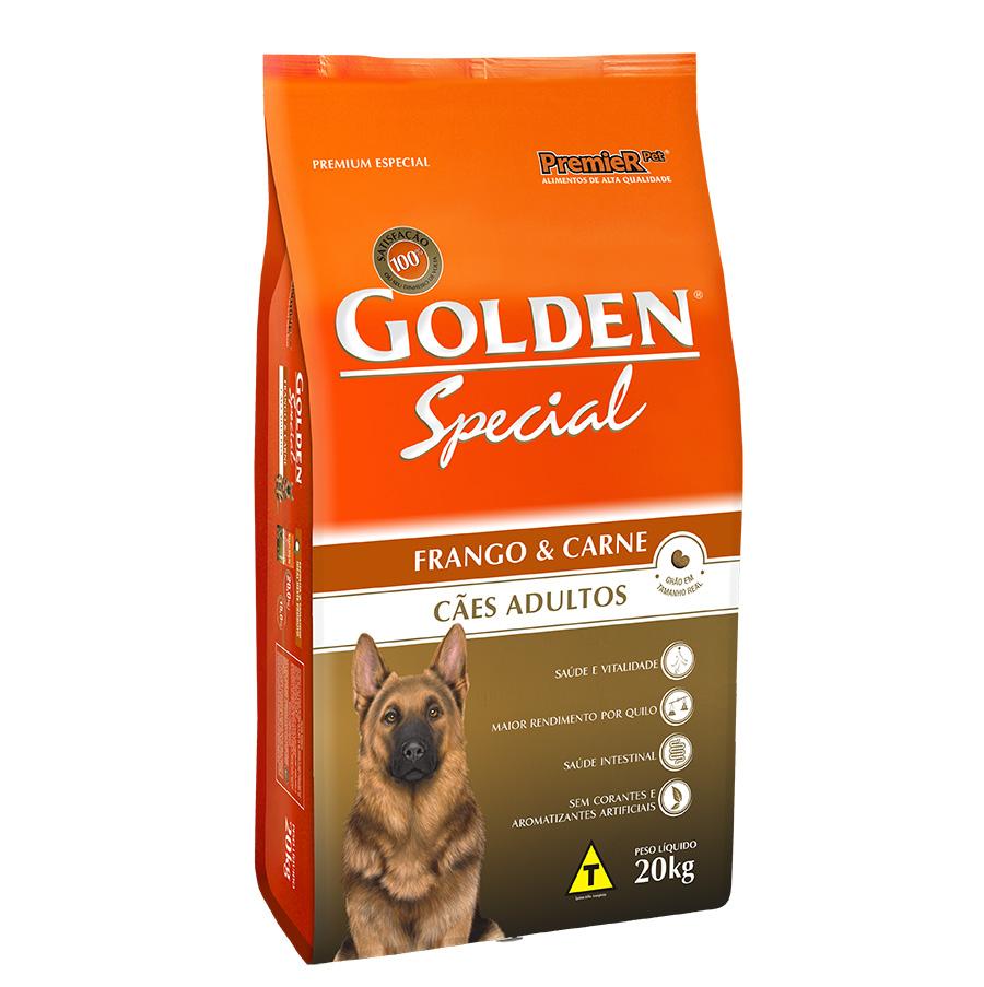 Ração Golden Special Sabor Frango e Carne para Cães Adultos - 20 Kg