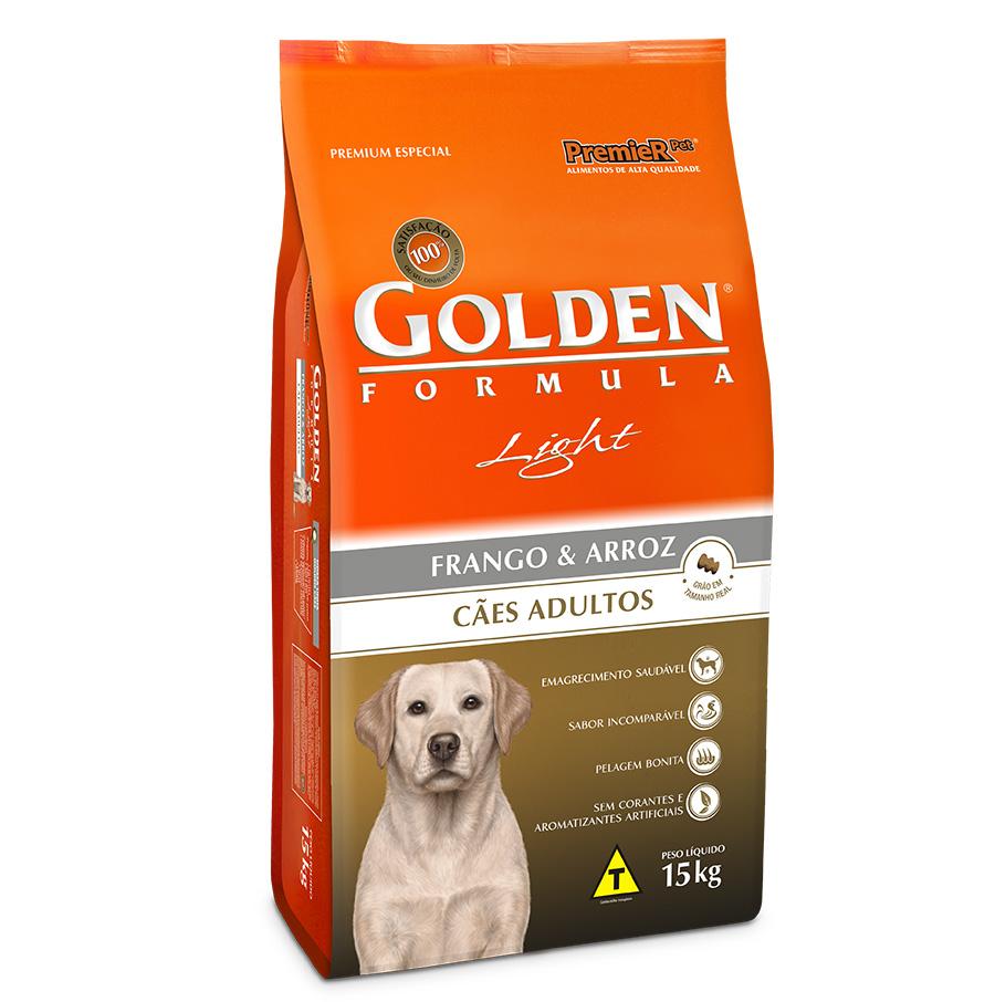 Ração Golden Fórmula Light para Cães Adultos - 15 kg