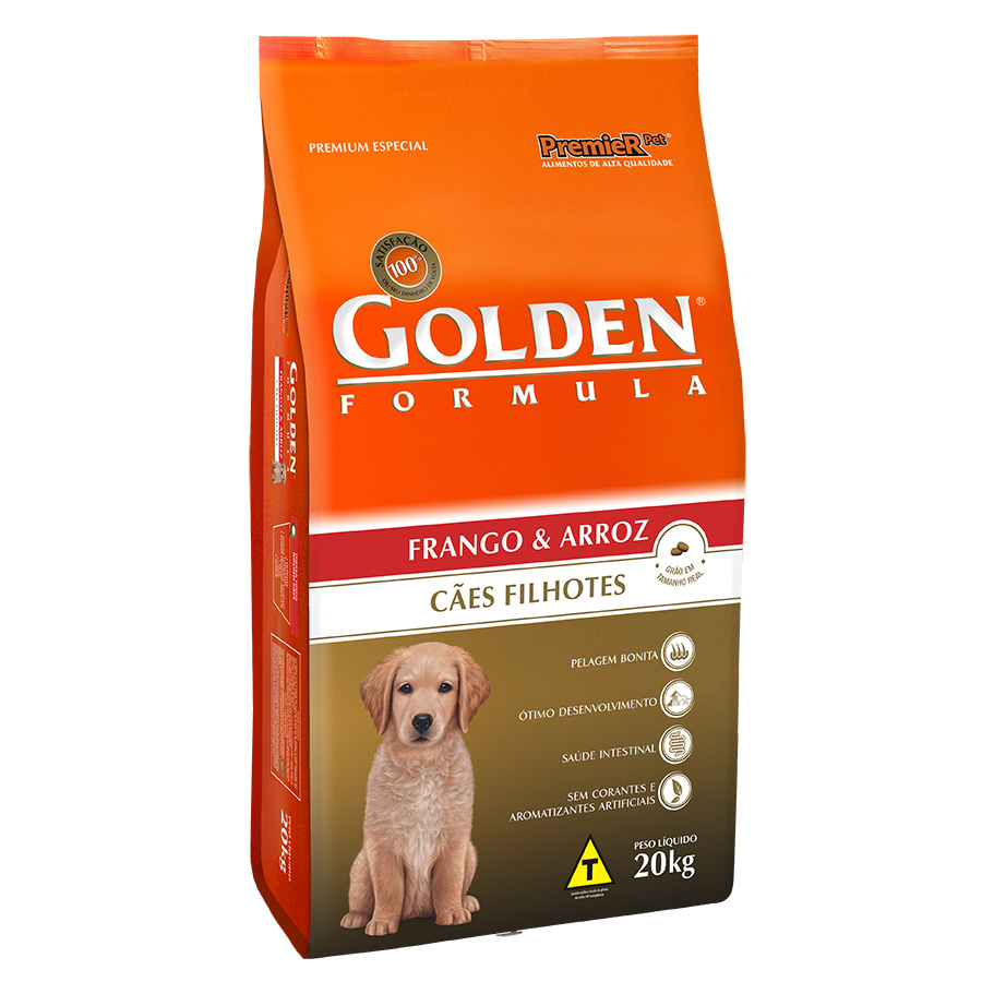 Ração Golden Filhote Sabor Frango e Arroz para Cães Filhotes - 20 Kg