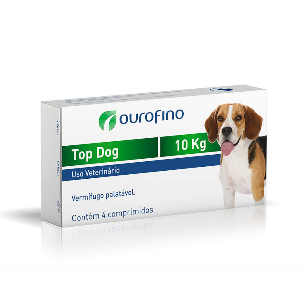 Vermífugo Top Dog 10Kg - Ourofino