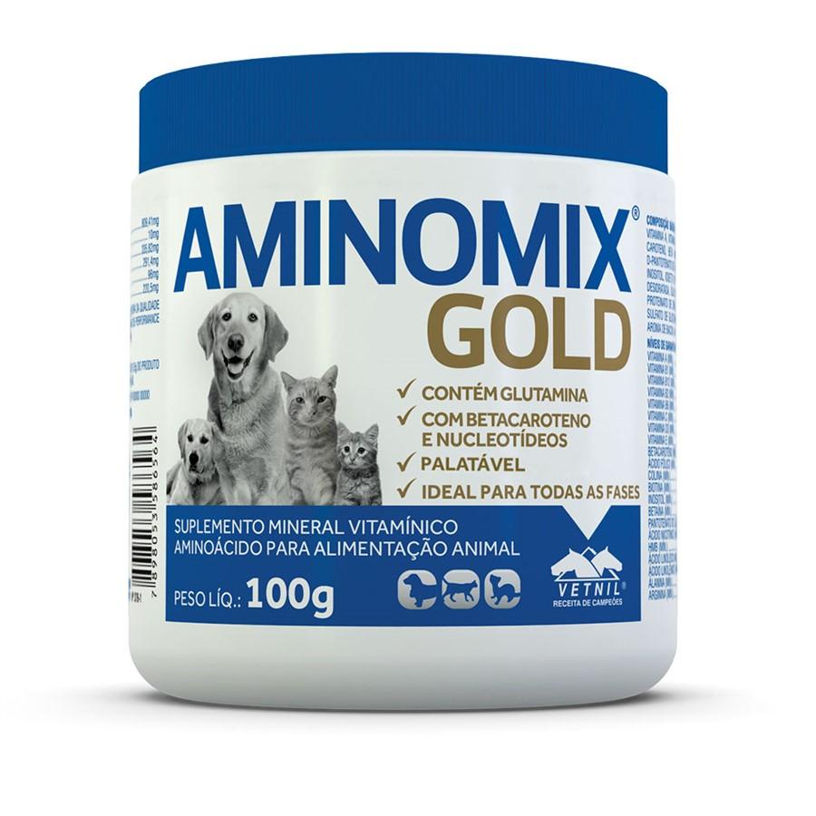 Complexo Vitamínico Aminomix Pet 100 G- Vetnil