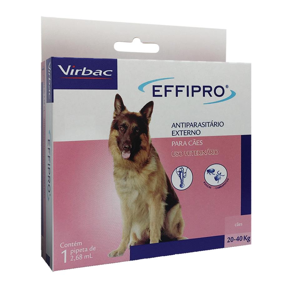 Antipulgas e Carrapatos Effipro 2,68 ml/De 20 até 40 Kg - Virbac