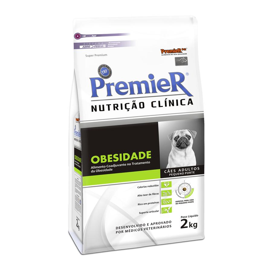 Ração Premier Nutrição Clínica Obesidade para Cães Adultos Raças Pequenas - 2,0 Kg