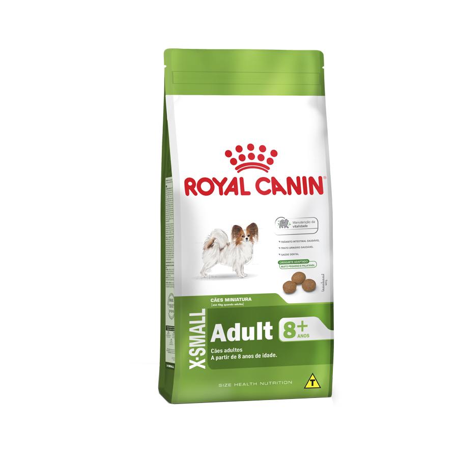 Ração Royal Canin X-Small Adulto 8+ para Cães Adultos e Idosos de Porte Miniatura 2,5 KG