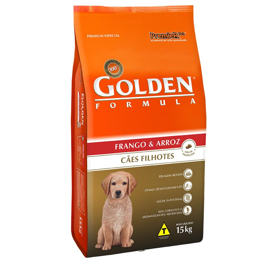 Ração Golden Filhote Sabor Frango e Arroz para Cães Filhotes - 15 Kg