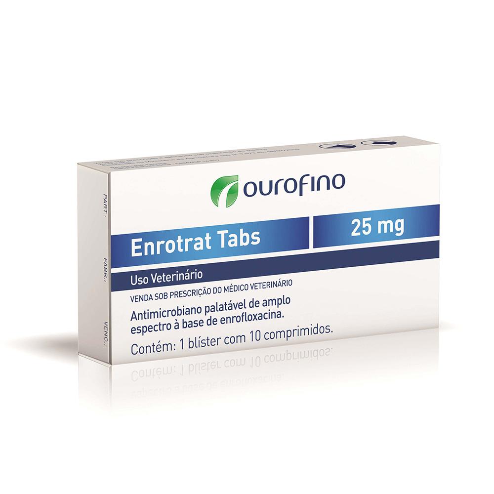 Antimicrobiano Enrotrat Tabs 25mg - Ourofino