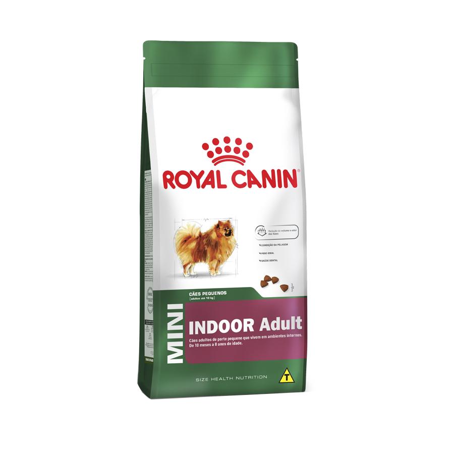 Ração Royal Canin Mini Indoor Adult para Cães Adultos de Raças Pequenas com 10 Meses ou mais 1 KG