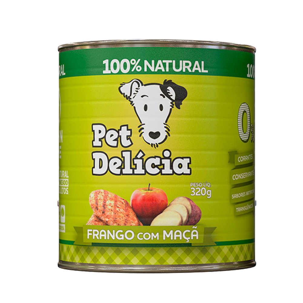 Ração Úmida Pet Delícia Lata para Cães - Sabor Frango com Maçã 320g