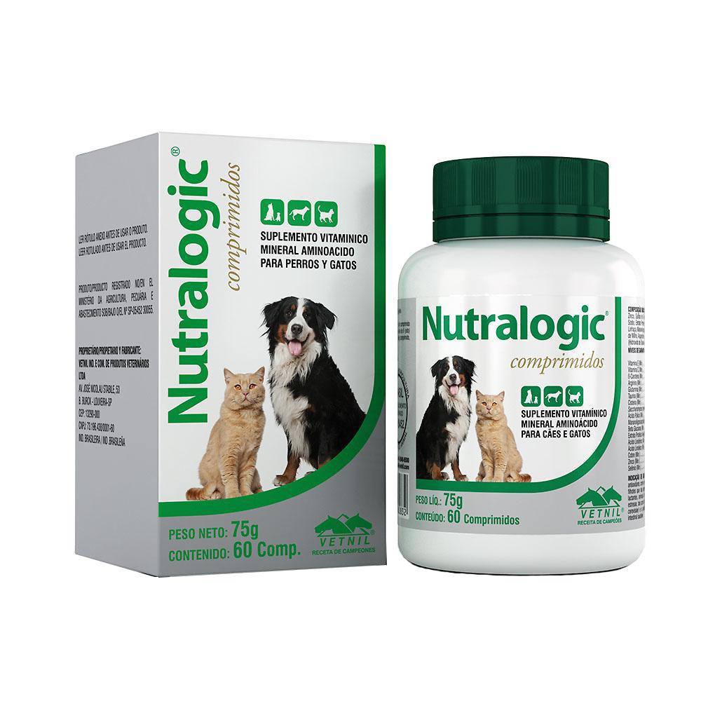 Suplemento Vitamínico Mineral Aminoácido Nutralogic Comprimidos 75 g/60 comprimidos Vetnil