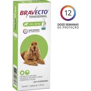 Antipulgas e Carrapatos MSD Bravecto Transdermal para Cães de 10 á 20 Kg