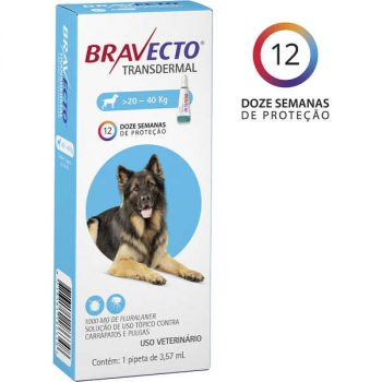 Antipulgas e Carrapatos MSD Bravecto Transdermal para Cães de 20 á 40 Kg