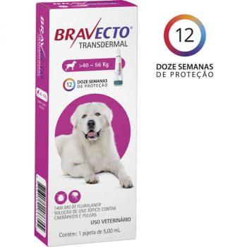 Antipulgas e Carrapatos MSD Bravecto Transdermal para Cães de 40 á 56 Kg
