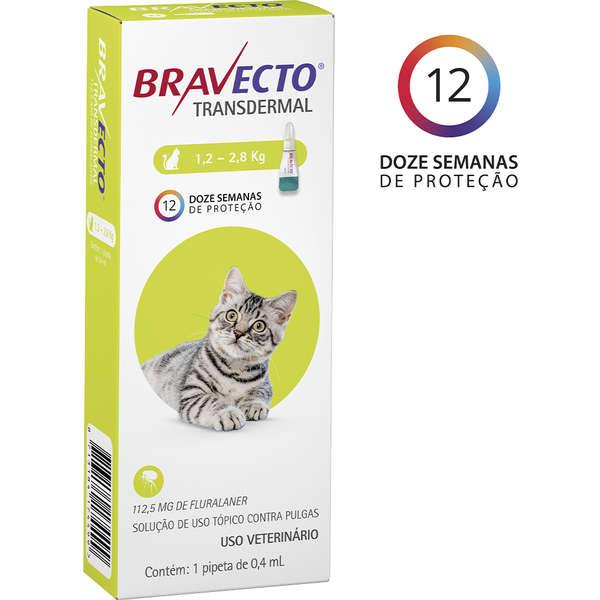 Antipulgas MSD Bravecto Transdermal para Gatos de 1,2 á 2,8 Kg