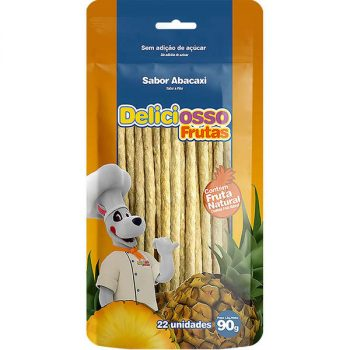 Osso Deliciosso Palito Médio Sabor Abacaxi para Cães – 200g