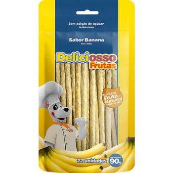 Osso Deliciosso Palito Médio Sabor Banana para Cães