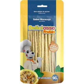 Osso Deliciosso Palito Médio Sabor Maracujá para Cães
