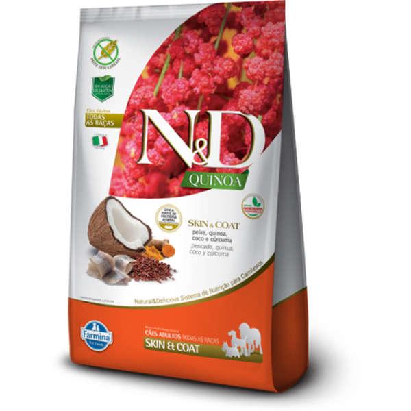 Ração Farmina N&D Quinoa Skin & Coat Peixe para Cães Adultos 800g