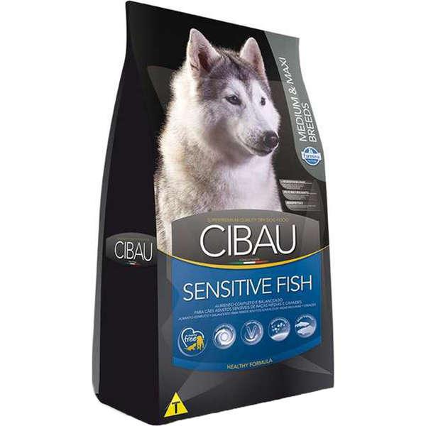 Ração Farmina Cibau Sensitive Fish para Cães Adultos de Raças Médias e Grandes 12kg
