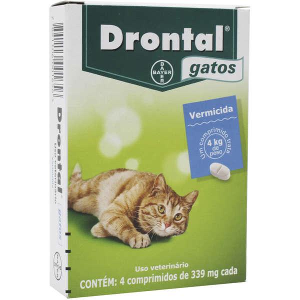 Vermífugo Drontal Gatos 4 Kg 4 Comprimidos - Bayer