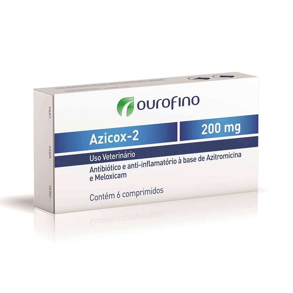 Antibiótico e Anti-inflamatório Azicox-2 200 mg - Ourofino