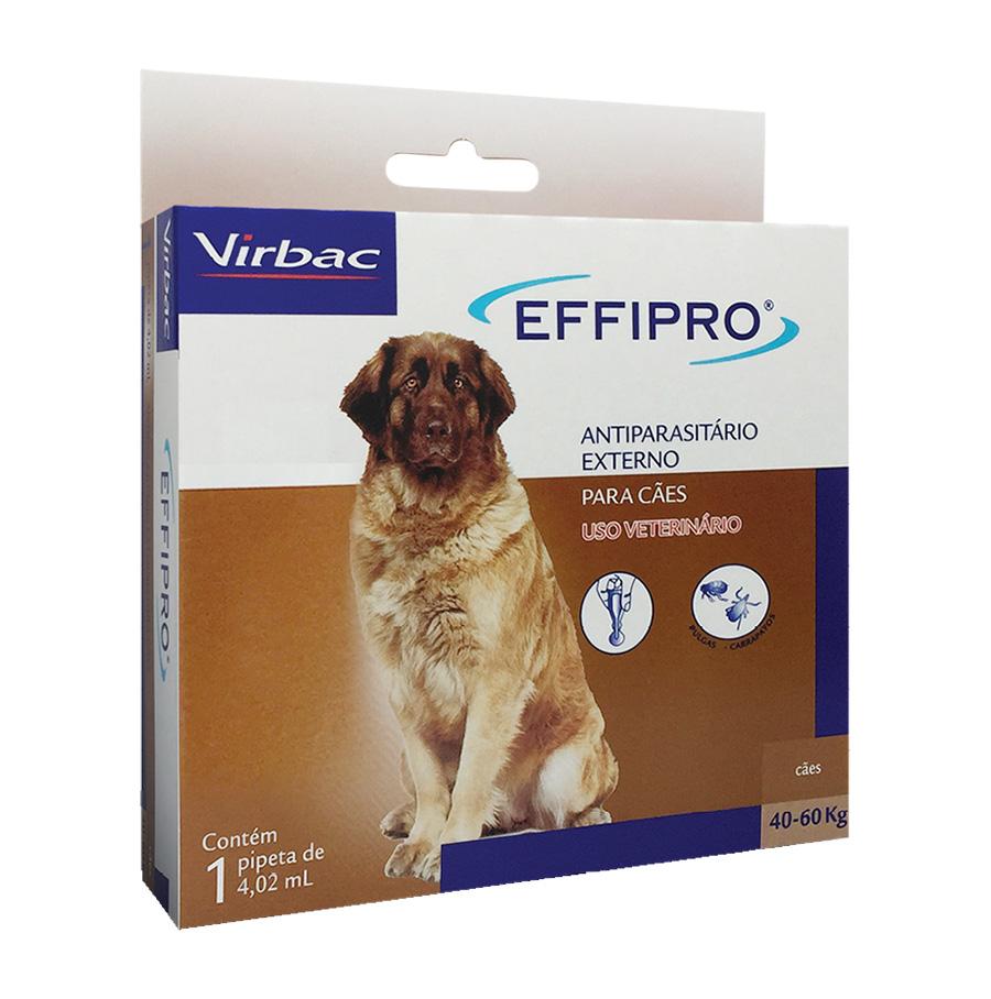 Antipulgas e Carrapatos Effipro 4,02 ml/40 até 60 Kg - Virbac