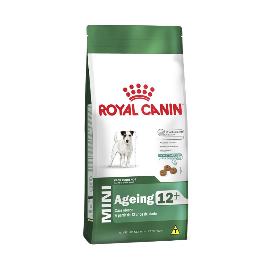 Ração Royal Canin Mini Ageing 12+ para Cães Idosos de Raças Pequenas com 12 Anos ou mais 1 KG