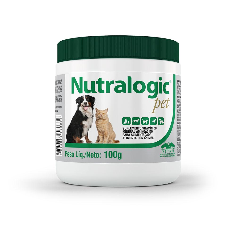 Suplemento Vitamínico Mineral Aminoácido Nutralogic Pet 100g Vetnil