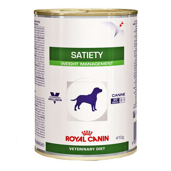Ração Royal Canin Lata Canine Veterinary Diet Satiety Support Wet para Cães Adultos Obesos - 410 g