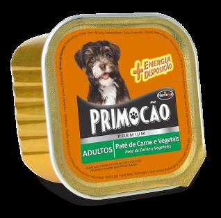 Patê Primocão Para Cães Adultos Carne e Vegetais 300 g.