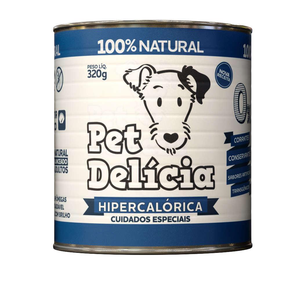 Ração Úmida Pet Delícia Lata para Cães - Receita Hipercalórica 320g