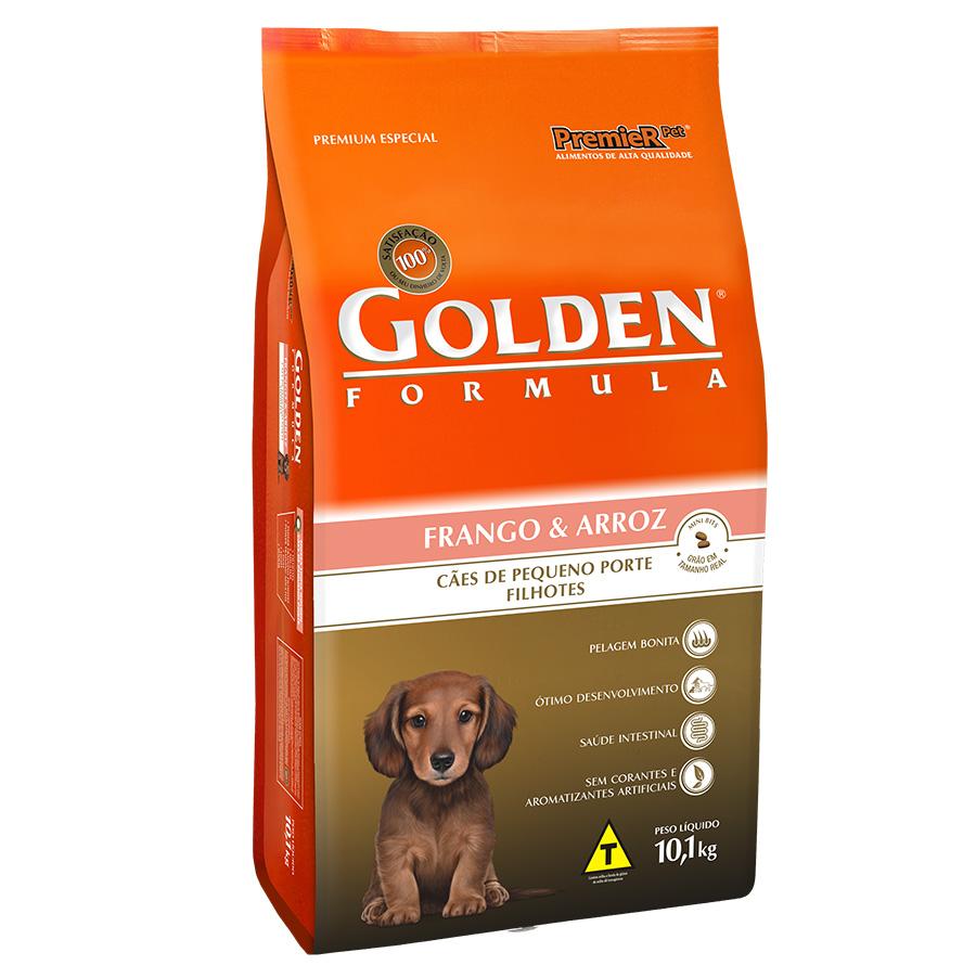 Ração Golden Fórmula Para Cães Filhotes de Pequeno Porte Sabor Frango e Arroz - 10,1 Kg