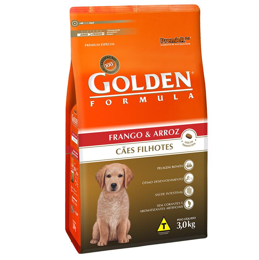 Ração Golden Filhote Sabor Frango e Arroz para Cães Filhotes - 3,0 Kg