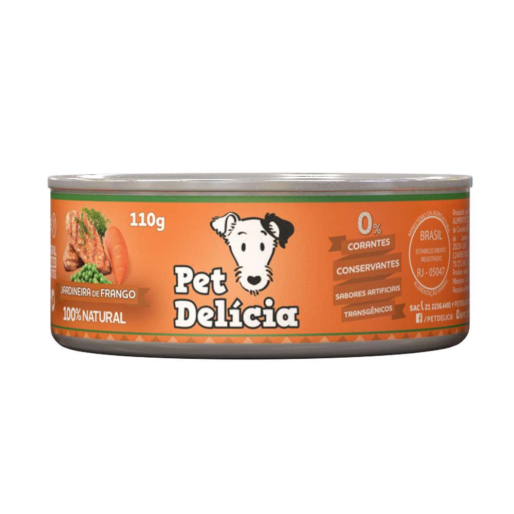 Ração Úmida Pet Delícia Lata para Cães - Sabor Jardineira de Frango 320g